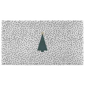 Spotty Christmas Tree Fitness Towel