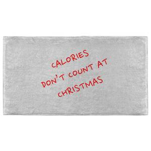Calories Don't Count At Christmas Fitness Towel
