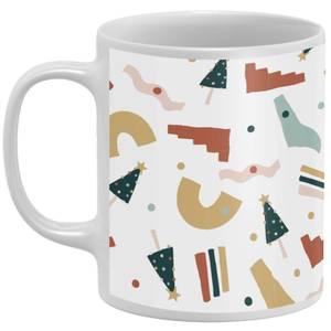 Abstract Christmas Mug