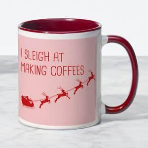 I Sleigh At Making Coffees Mug - White/Red
