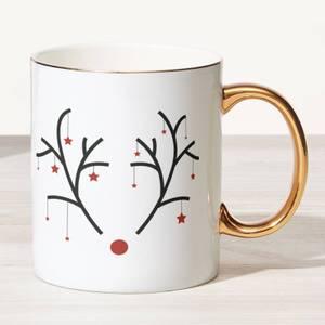Rudolph Bone China Gold Handle Mug