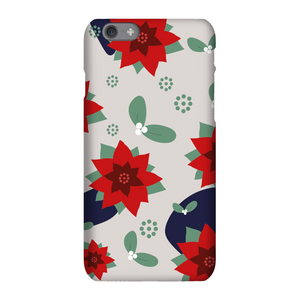 Christmas Flowers And Misletoe Phone Case for iPhone and Android