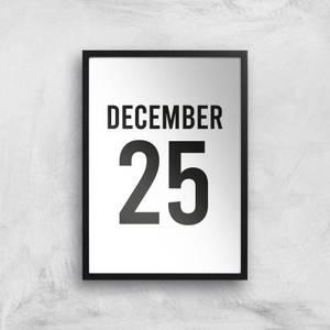 December 25 Giclee Art Print