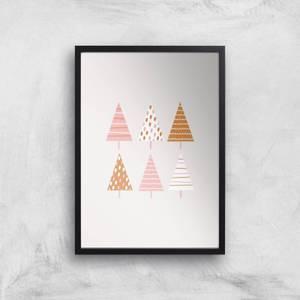 Christmas Tree Mix Giclee Art Print