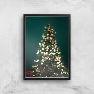 Christmas Tree Lights Giclee Art Print