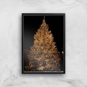 Christmas Tree Pretty Lights Giclee Art Print