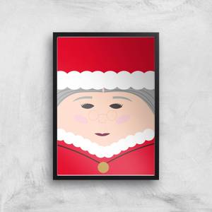 Mrs Claus Giclee Art Print