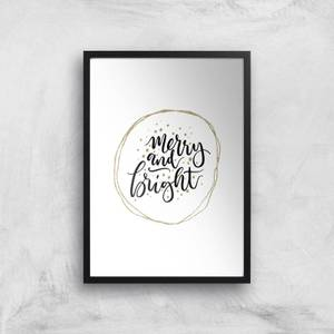Merry And Bright Giclee Art Print