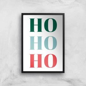 Ho Ho Ho Christmas Giclee Art Print