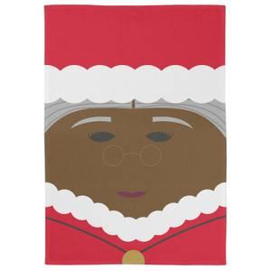 Cartoon Mrs Santa Tea Towel
