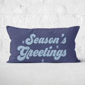 Seasons Greetings Rectangular Cushion