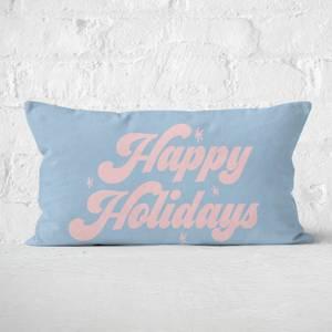 Happy Holidays Rectangular Cushion