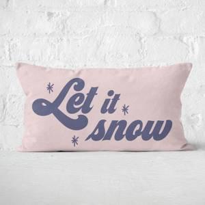 Let It Snow Rectangular Cushion