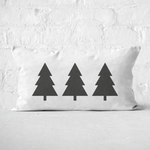 Christmas Trees Rectangular Cushion
