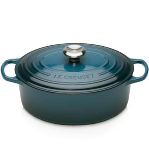 Le Creuset Signature Cast Iron Oval Casserole Dish - 27cm - Deep Teal