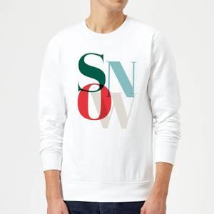 Graphical Snow Sweatshirt - White