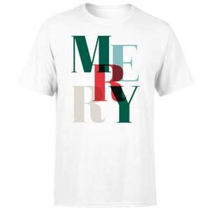 Graphic Merry Men's T-Shirt - White