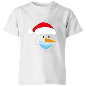 Covid Snowman Kids' T-Shirt - White