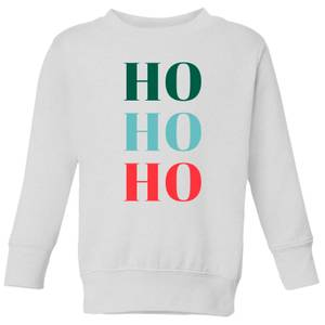 Graphical Ho Ho Ho Kids' Sweatshirt - White