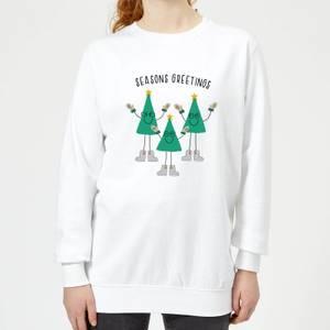 Seasons Greetings Women's Sweatshirt - White