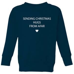 Sending Christmas Hugs From Afar Kids' Sweatshirt - Navy