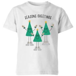 Seasons Greetings Kids' T-Shirt - White