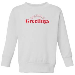 Season's Greetings Kids' Sweatshirt - White
