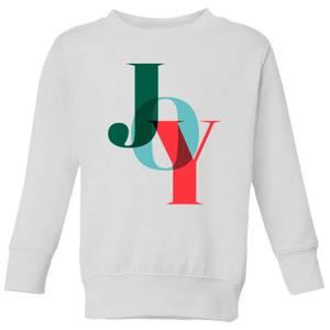 Graphical Joy Kids' Sweatshirt - White