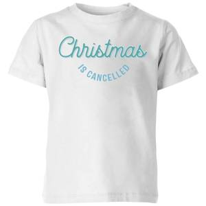 Christmas Is Cancelled Kids' T-Shirt - White