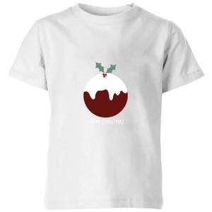 Christmas Pudding Kids' T-Shirt - White