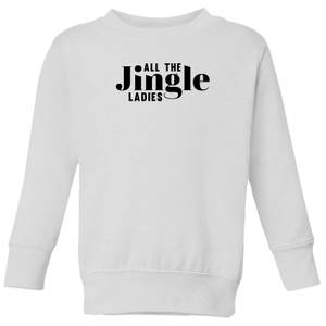 All The Jingle Ladies Kids' Sweatshirt - White