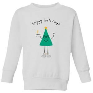 Happy Holidays Kids' Sweatshirt - White
