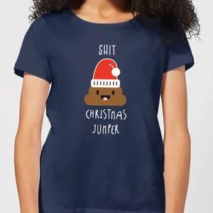 Shit Christmas Jumper Women's T-Shirt - Navy