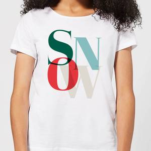 Graphical Snow Women's T-Shirt - White