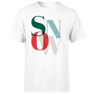 Graphical Snow Men's T-Shirt - White