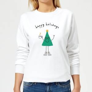 Happy Holidays Women's Sweatshirt - White