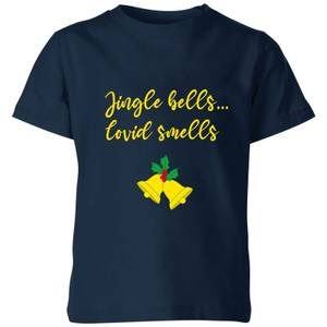 Jingle Bells Covid Smells Kids' T-Shirt - Navy