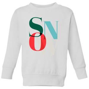 Graphical Snow Kids' Sweatshirt - White