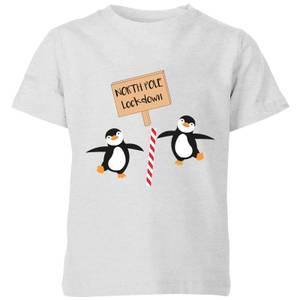 North Pole Lockdown Kids' T-Shirt - Grey