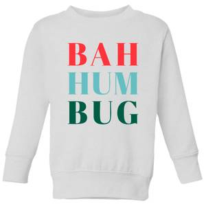 Bah Hum Bug Kids' Sweatshirt - White