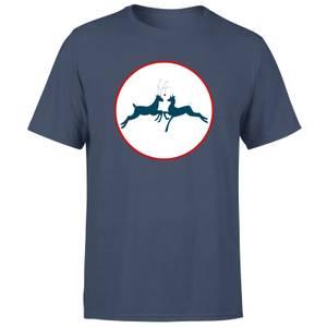 Reindeer Kisses Men's T-Shirt - Navy