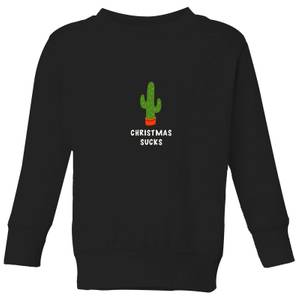Christmas Sucks Kids' Sweatshirt - Black