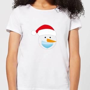 Covid Snowman Women's T-Shirt - White
