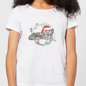 Snow Tiger Women's T-Shirt - White