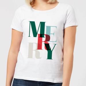 Graphic Merry Women's T-Shirt - White