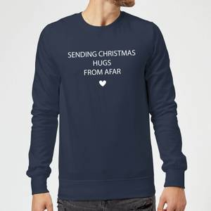 Sending Christmas Hugs From Afar Sweatshirt - Navy