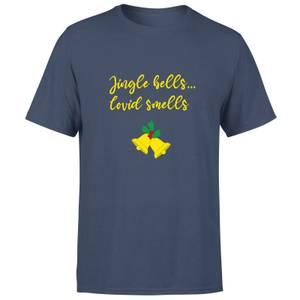 Jingle Bells Covid Smells Men's T-Shirt - Navy