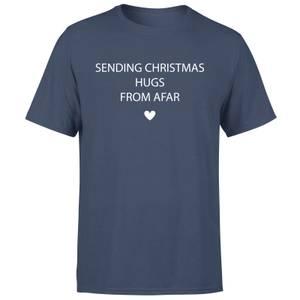 Sending Christmas Hugs From Afar Men's T-Shirt - Navy