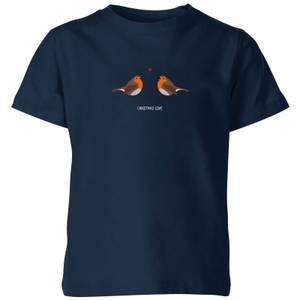 Christmas Love Kids' T-Shirt - Navy
