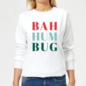 Bah Hum Bug Women's Sweatshirt - White